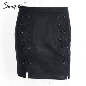 High waist skirt Zipper short skirts