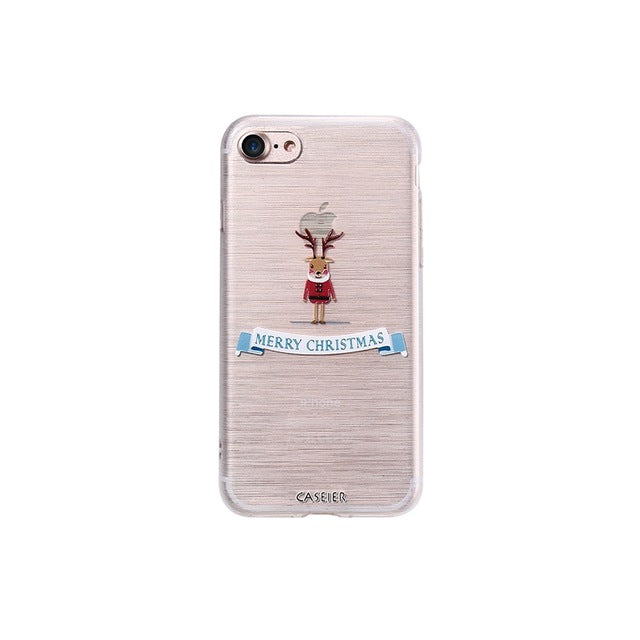 Silicone Winter Merry Christmas phone Cover