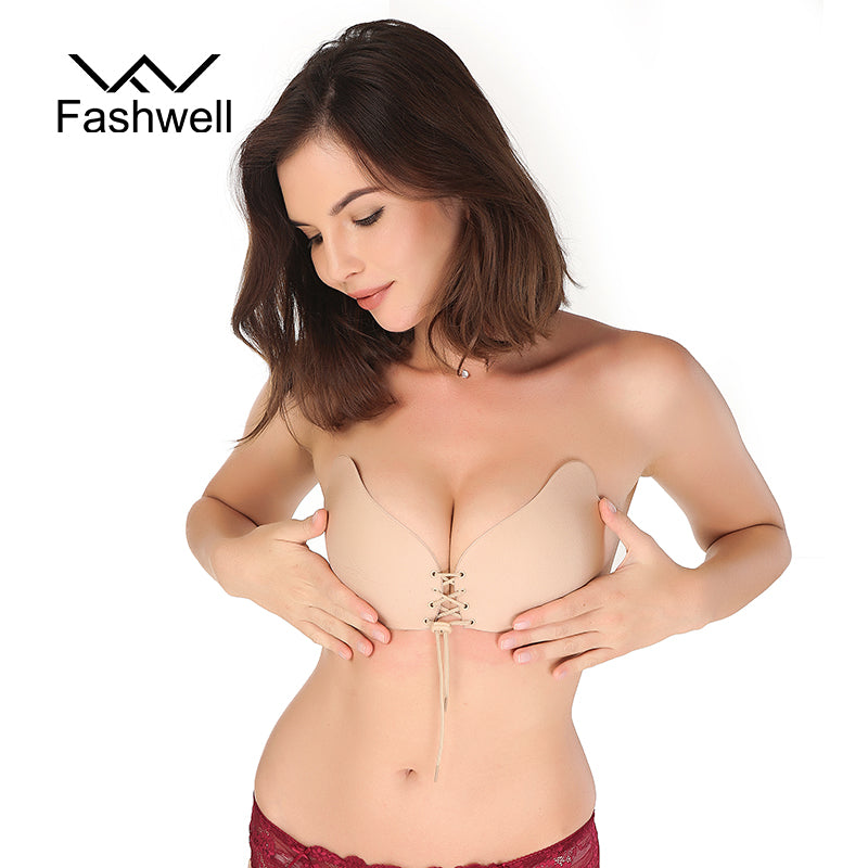 Silicone backless  invisible bra
