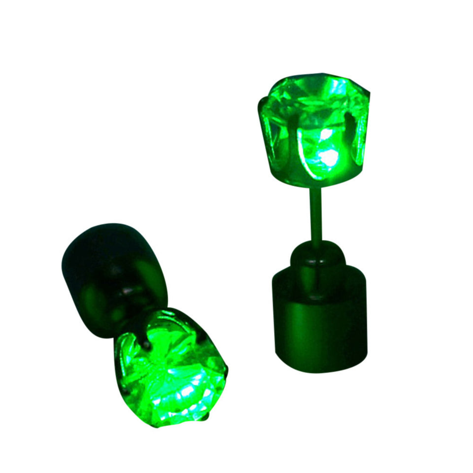 Light Up LED Bling Ear Studs