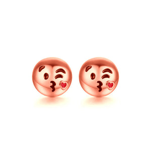 Emoji Head Stud Earrings