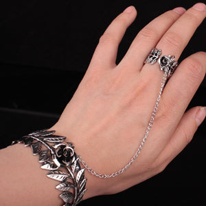 Joint Link Finger Alloy Bracelet Ring