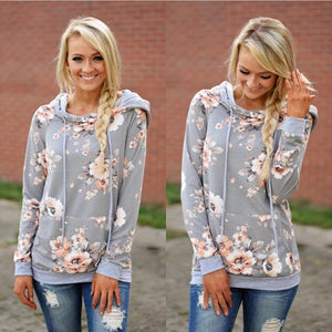 Double hood print Pullover