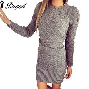 Winter Long Sleeve Knitted Dress