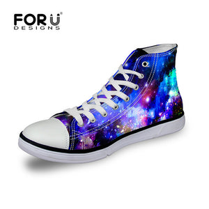 Galaxy Star Lace-up Flat Shoes