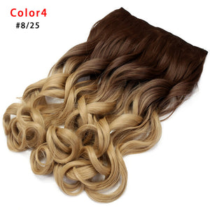 Ombre Synthetic Blonde Fake Hair Hairpiece