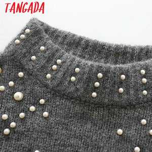 Beading Turtleneck Sweater
