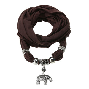Winter Elephant Pendant Scarf