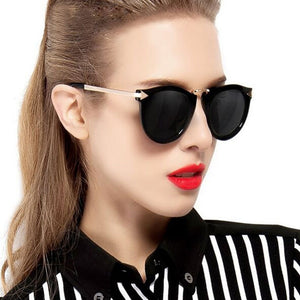Vintage Cat Eye Round Sunglasses