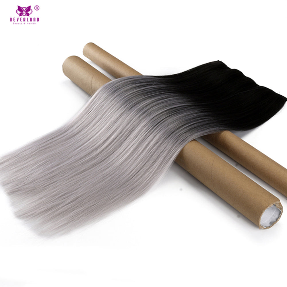 Ombre Silver Grey Hair Extensions