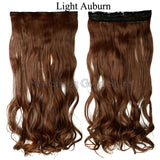 Black Brown Blond colors Long Curly  Hair Extensions