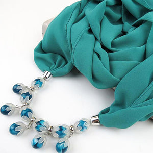 Chiffon jewelry necklace scarf