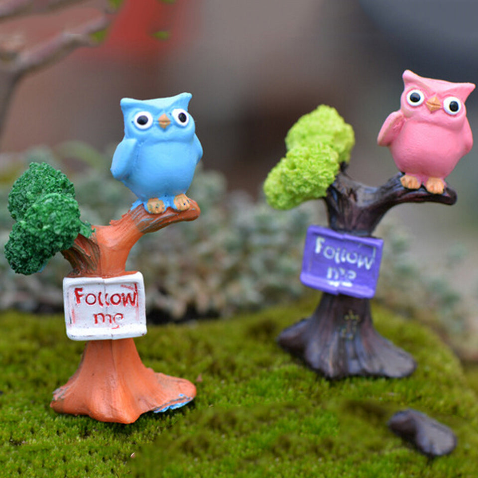 Owl & Tree  Miniatures Ornaments