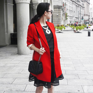 Women  Acetate red blazer