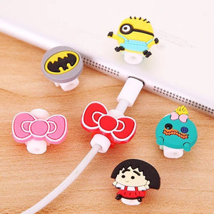 Cartoon USB Charger Cable Earphone