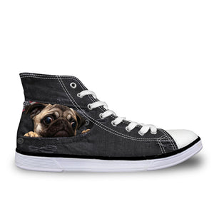 Denim Dog Print Shoes