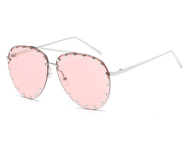 Rivet Transparent Sun Glasses