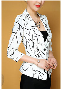 Geometric Women Blazer