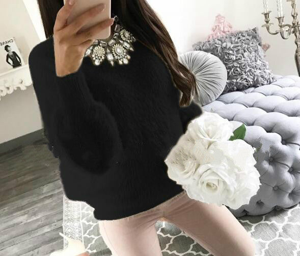 Loose fluffy women sweater