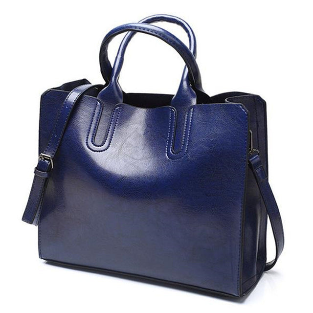 Leather Tote large Bag