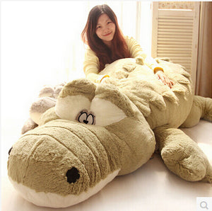 Crocodile Skin Plush Cushion