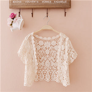 Women Lace Small Tassels Shrugs