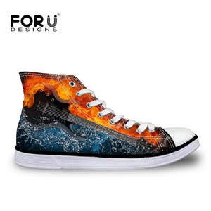 Vulcanized Fire Guitar Canvas Shoes