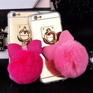 Rabbit Fur Balls phone Cases