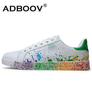 Mix colors ink painting shoes