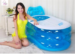 Inflatable Bath Tub with Electric Air Pump