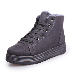 Warm Platform Snow Ankle Boots