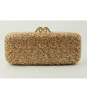 Gold Crystal Evening Clutch