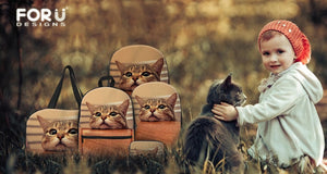 Cute Cat Messenger Bags