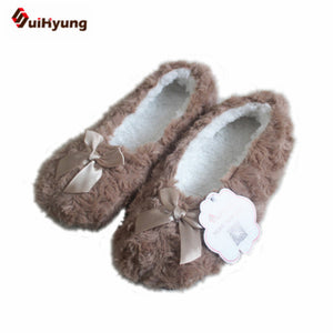 Bowknot Fleece Indoor Slipper