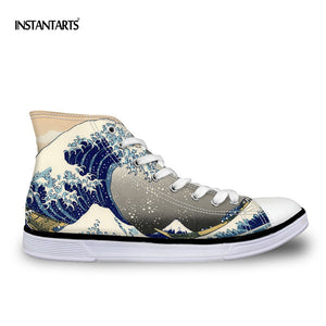 Waves Surf Print Male Casual Shoes