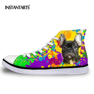 Colorful Animal Pattern Lace-up Canvas Shoes