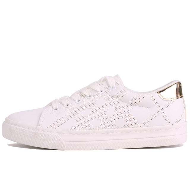 Lace Up Metal Flat Sneakers