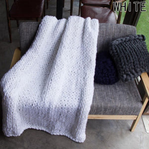 Soft Handmade Knitted Blanket