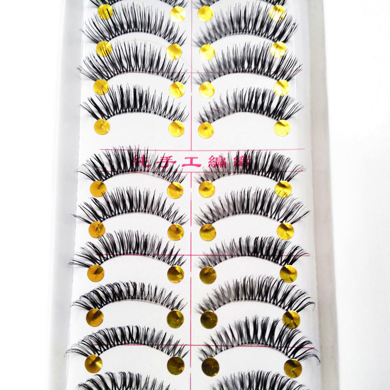 10Pair/Lot Thick False Eyelashes