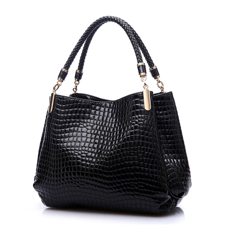 Leather Alligator Shoulder Bag