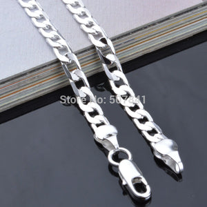 Noble plated snake style silver Necklace