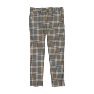 Grey Plaid Pant