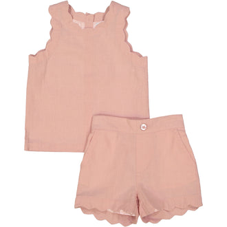 Smoky Rose Linen Set