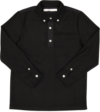 Black Wool Flannel Shirt