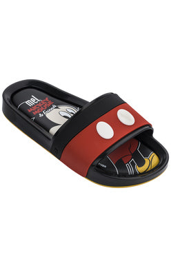 Black Royal Mickey Slides