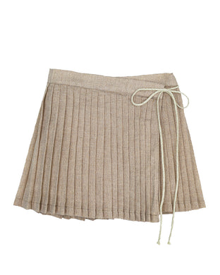 Bert Gold Pleated Skirt