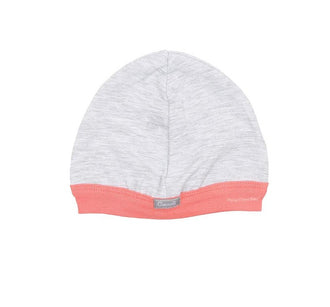 Grey W Soft Coral Stripe Hat