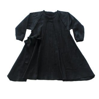 Mixoligy Black Denim Pocket Dress