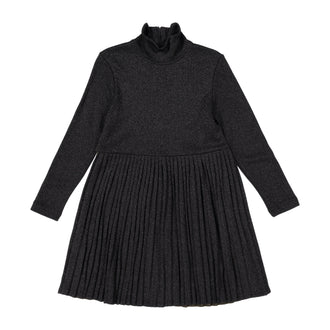 Black Mettalic Two-Tone Dress