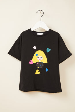Fendy Hearts Black Tee